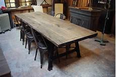 Metal Wood Industrial Table Par Le Marchand D Oublis