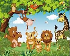 Top Gambar Hutan Dan Binatang Kartun Kolek Gambar