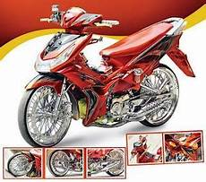 Modif Shogun 125 Harian by Motor Drag Gambar Modifikasi Shogun 125 Warna Merah