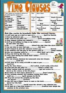 time clauses worksheets 2951 time clauses esl worksheet by kodora