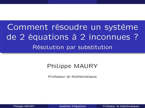 Resoudre Systeme 4 Equations 4 Inconnues