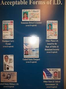 acceptable forms of id for tennessee voters genma speaks