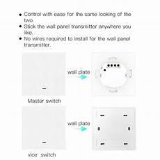 Moeshouse Wifi Rf433 Smart Touch Curtain by Moeshouse 3 Wifi Smart Push Button Switch 3pcs 1