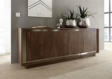 Modern Sideboard In Oak Cognac Finish With Inlays