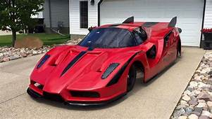 Ferrari Enzo Lookalike Jet Car Built By A Canadian