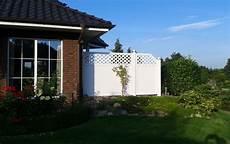 Sichtschutz Kunststoff Günstig - terrassen blickschutz in wei 223