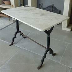 mat 233 riaux anciens table en marbre et en fonte ancienne