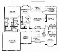traditional style house plan 3 beds 2 00 baths 2200 sq