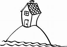 Gratis Malvorlagen Haus Haus Auf Insel Ausmalbild Malvorlage Comics
