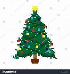 vector illustration pixel christmas tree stock vector 564959854