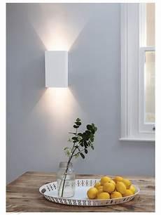 pella 190 white plaster paintable wall light oblong up down lighting using 2 50w gu10 astro