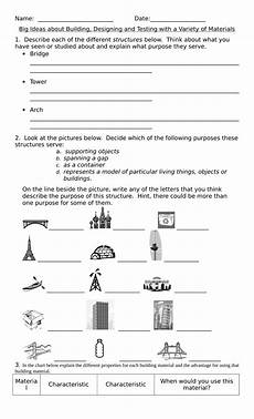 free science worksheets for grade 3 12549 testing and building with materials unit test resource preview grade 3 science