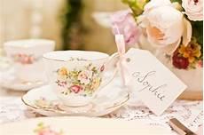 love the gifttag and ribbon bridesmaid gift high tea wedding vintage crockery