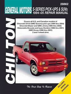 chilton car manuals free download 1995 gmc sonoma security system repair manual chevy s10 blazer gmc sonoma envoy jimmy etc