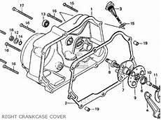 honda ct 70 k3 clutch assembly diagram honda ct70 trail 70 1974 ct70k3 usa parts lists and schematics