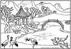 landscapes to color 3 l scapes coloring pages