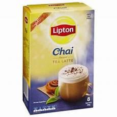 Chai Latte Pulver - lipton chai latte sachets pack 8 staples now winc