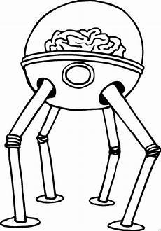 gehirn roboter ausmalbild malvorlage comics
