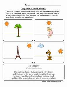 science worksheets light and shadows 12279 shadows worksheet