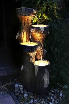 Led Beleuchtung Garten - gartenbrunnen quot baumstamm quot 120 cm mit led beleuchtung