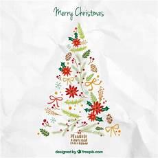 cute merry christmas tree vector premium download