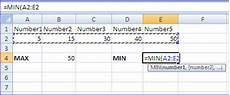 learn practical use of max function and min function in excel worksheets computer notes