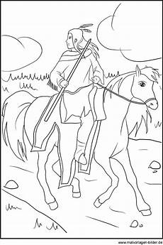 Ausmalbilder Indianer Kostenlos Ausdrucken Indianer Auf Einem Pferd Ausmalbild Zum Kostenlosen