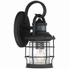 timberland nautical outdoor wall light fixture textured black cage 12 quot clear ribbed glass