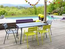La Table Monceau Table Monceau Fermob 6 Personnes Vert Gris Made In Design