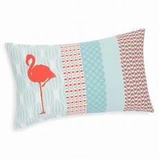 housse de coussin en coton 30 x 50 cm flamingo maisons