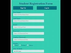 how to create student registration form in html and css how to create registration form in