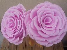 large color crepe paper flower by