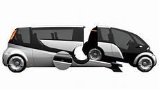 Auto Der Zukunft Aufblasbare Fahrerkapsel Elektromotor