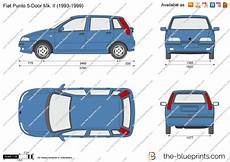 dimension fiat punto the blueprints vector drawing fiat punto 5 door mk ii