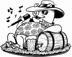 Lustige Schweine Ausmalbilder Schwein Singt Ausmalbild Malvorlage Musik