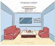 dessin d un salon salon int 233 rieur de couleur vector illustration de