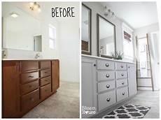 master bathroom budget makeover builder grade to rustic industrial bless er house