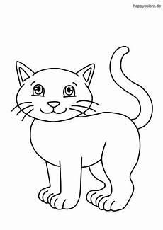 Malvorlage Katzenkopf Einfach Katze Malvorlage Kostenlos 187 Katzen Ausmalbilder