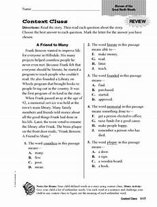 context clues quot marvin of the great north woods quot worksheet for 2nd 4th grade lesson planet