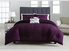 Metaphor 5 Piece Comforter Set   Plum Seersucker