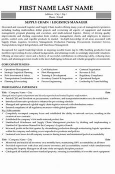 supply chain manager resume sle template