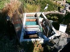 teichfilter selber bauen bilder filteranlage koiteich selbstbau schwimmbadtechnik