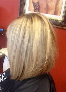 bob slightly inverted with light layers great for fine hair bob haircut back view