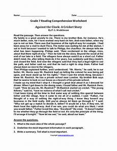 worksheets for 7th grade 18180 against the clock seventh grade reading worksheets reading comprehension worksheets reading