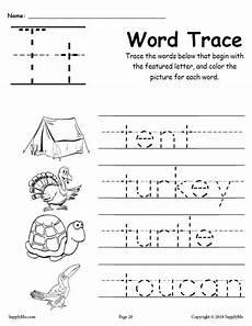 worksheets letter t 24505 letter t words free alphabet tracing worksheet supplyme