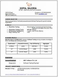 sle template of an excellent b tech ece electronics and communication resume sle with