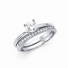 trust jewelry 14k white italian solid gold 1 0ctw