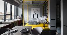 artistic apartments with monochromatic color a pop of color adds a touch to this monochromatic