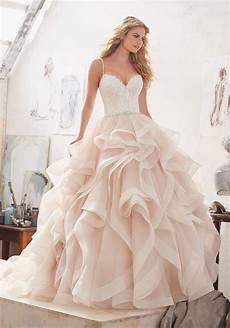vestido de noiva new design ball gown lace mermaid wedding dresses 2017 organza ruffled backless