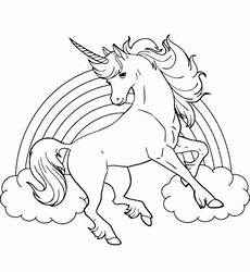 unicorn with rainbow coloring page coloring pages
